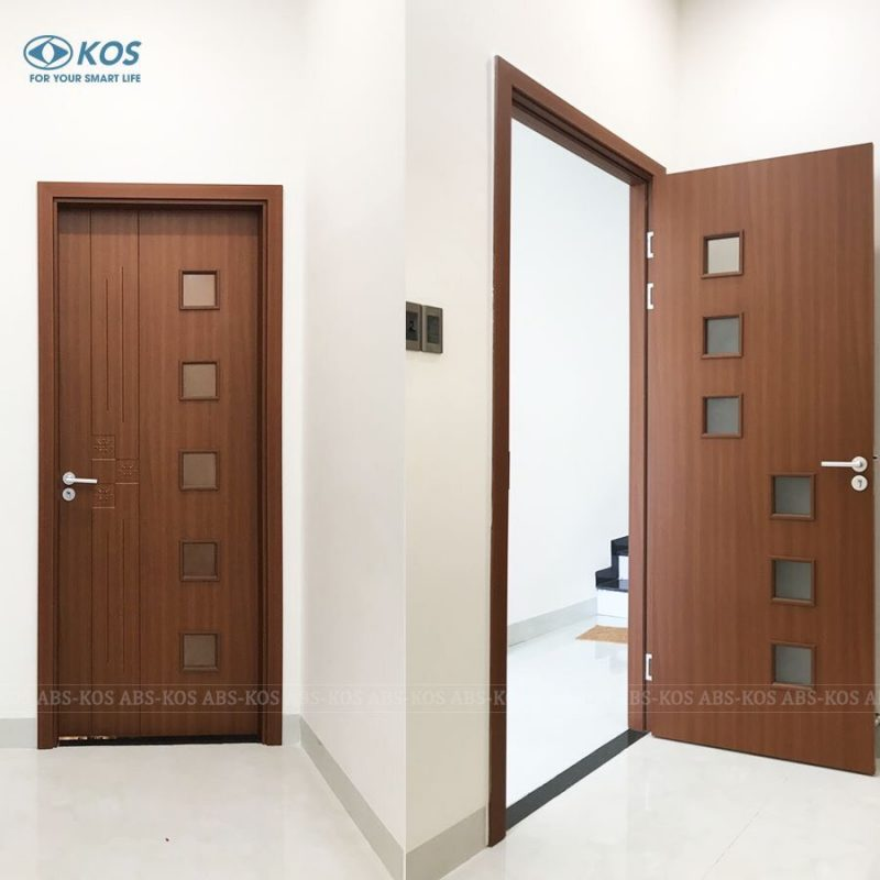 Mẫu cửa nhựa ABS Hàn Quốc có ô kính
